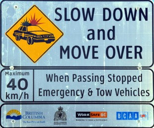 Slow Down Move Over Canada - Move Over Traffic Sign